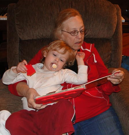Grandma Glo Ewan reading small